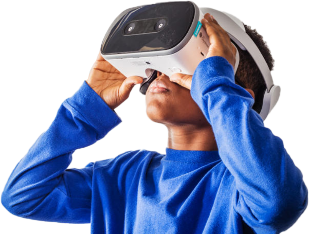 Child using VR Headset